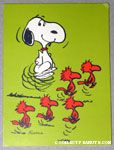 Snoopy & Woodstocks dancing Gift Tag