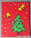 Woodstocks decorating Christmas Tree Gift Tag