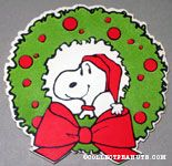 Snoopy in wreath Gift Tag