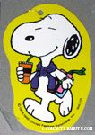 Snoopy drinking and holding books Gift Tag