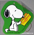 Snoopy reading music Gift Tag