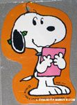 Snoopy holding paper with pencil Gift Tag