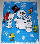 Snoopy & Woodstocks building a snowman Gift Bag