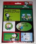 Peanuts Gang Christmas sheets of Gift Tags