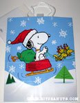 Santa Snoopy with sleigh drawn by Woodstocks Gift Bag