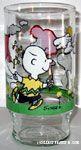 Peanuts flying kite glass
