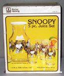 Snoopy and Woodstock 5 piece Juice Set