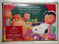 Peanuts Gang in costume with Bible verse Christmas Cards
