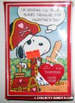 Snoopy and Woodstock Pirates with treasure Valentine Cards
