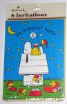 Woodstocks sleepover at Snoopy's doghouse Invitations