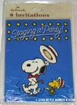 Snoopy & Woodstock dancing 'Staging a Party' Party Invitations