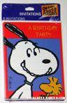 Snoopy & Woodstock 'A Birthday Party' Invitations