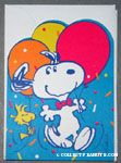 Snoopy & Woodstock with balloons Birthday Greeting Card
