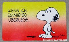 Snoopy Standing 'Wenn ich es mir so uberlege... bist du mein absoluter spitzenfavorit' Wallet Greeting Card