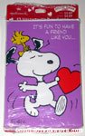 Snoopy & Woodstock with heart 'It's fun to have a friend like you' Valentine's Day Cards