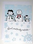 Peanuts Gang as snowmen 'Cool and Frosty outside' Card