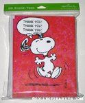Snoopy Dancing 'Thank you' Cards