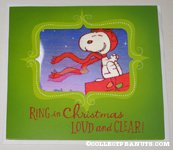 Snoopy Flying Ace lenticular Christmas Card