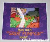It's the Great Pumpkin, Charlie Brown Lenticular Halloween Greeting Card