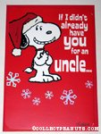 Snoopy 'Uncle' Christmas Card