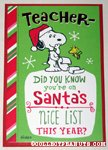 Snoopy & Woodstock 'Nice List' Christmas Card