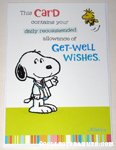 Doctor Snoopy & Woodstock Get Well Soon Greeting Card