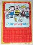 Peanuts Gang Get Well Soon Greeting Card