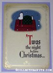 Snoopy on doghouse 'Night before Christmas' Christmas Card