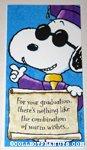 Snoopy graduation Greeting Card
