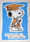 Snoopy graduate Greeting Card