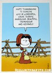 Lucy Thanksgiving Greeting Card