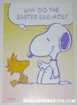 Snoopy & Woodstock riddle Easter Greeting Card