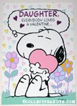 Snoopy hugging heart 'Daughter' Valentine's Day Greeting Card
