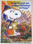 Snoopy Halloween Birthday Greeting Card