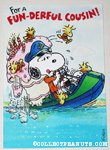 Boating Snoopy & Woodstocks 'Cousin' Birthday Greeting Card