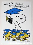 Snoopy & Woodstocks Grade School Graduate Greeting Card