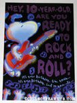 Rock n Roll Snoopy Birthday Greeting Card