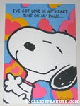 Snoopy hug Greeting Card