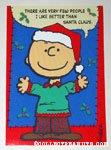 Charlie Brown 'Santa Claus' Christmas Card
