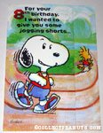 Snoopy & Woodstock Jogging Birthday Greeting Card