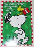 Snoopy & Woodstock dancing Christmas Card