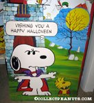 Snoopy & Woodstock vampire Halloween Card