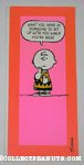 Charlie Brown 'sit up with you' Get Well Greeting Card