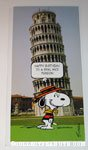 Snoopy Leaning Tower of Pisa 'Nice Person' Birthday Greeting Card
