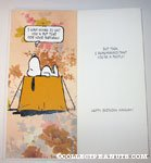 Snoopy 'Pup Tent' Birthday Greeting Card