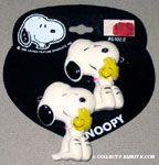 Snoopy hugging Woodstock Barrette