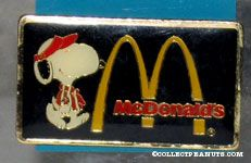 Snoopy in McDonald's Uniform