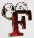 Peanuts & Snoopy Initial Award Pins