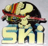 Peanuts & Snoopy Ski Aviva Pins