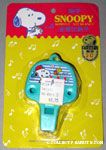 Snoopy and Woodstock eating Teal Whistle Necklace